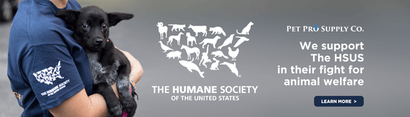 Pet Pro Supply Co. supports The Humane Society of the United States