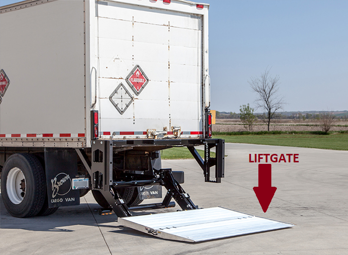 Freight Liftgate option at Pet Pro Supply Co.