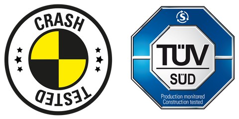 TÜV SÜD Crash Tested Certified