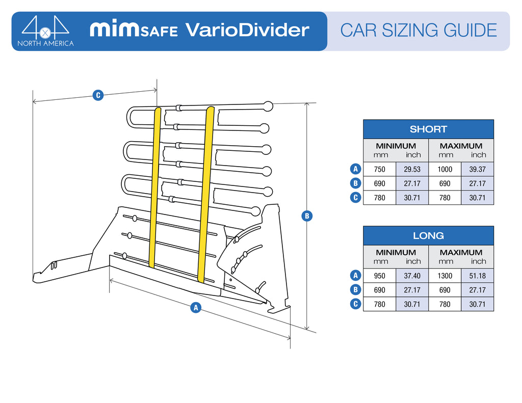 VarioDivider Car Sizing Guide