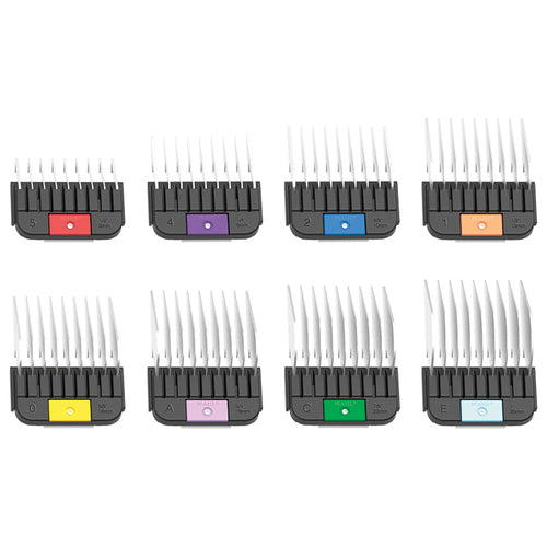 Wahl Detachable Blade Stainless Steel Combs (8 Piece Set)