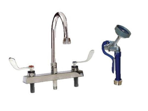 Accessories - DRE Deck-Mounted Faucet & Pre-Rinse Sprayer - Pet Pro Supply Co