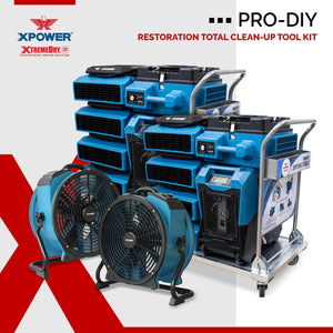 Air Scrubber - XPOWER XtremeDry® Pro-DIY Restoration TOTAL Clean-Up Tool Kit - Pet Pro Supply Co