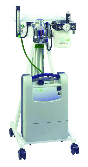 Anesthesia Machines - Shor-Line Pureline M6000 Anesthesia Machine With O2 Concentrator