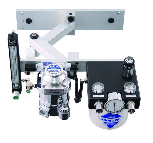 Anesthesia Machines - Shor-Line Wall Mount Anesthesia Machine With Articulating Arm