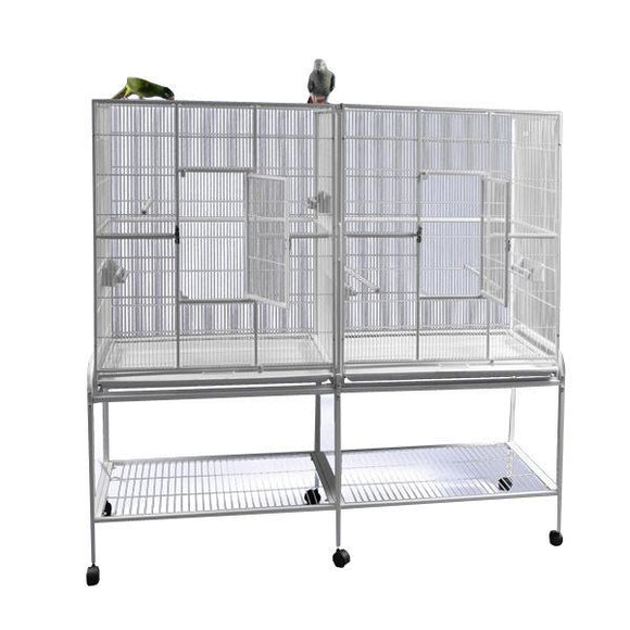 Aviary - A&E Double Flight Cage With Divider