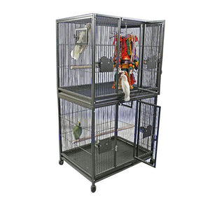 Aviary - A&E Double Stack Breeder Cage - Pet Pro Supply Co