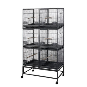 Aviary - A&E Six Unit Breeder Cage With Dividers - Pet Pro Supply Co