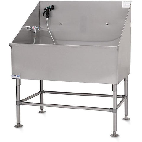 PetLift Stainless Steel Classic Dog Grooming Bath Tub