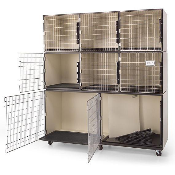 PetLift Professional Veterinary & Grooming Cage Banks - 8 Units