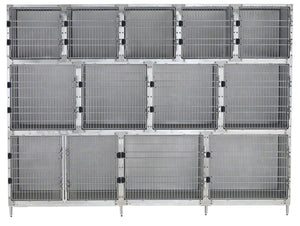 Cage Banks - Shor-Line Stainless Steel 10' Cage Assembly - Model C - Pet Pro Supply Co