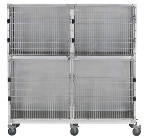 Cage Banks - Shor-Line Stainless Steel 6' Cage Assembly - Model B - Pet Pro Supply Co