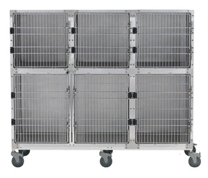 Cage Banks - Shor-Line Stainless Steel 6' Cage Assembly - Model C - Pet Pro Supply Co
