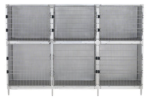 Cage Banks - Shor-Line Stainless Steel 9' Cage Assembly - Model A - Pet Pro Supply Co