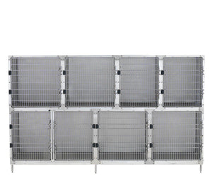 Cage Banks - Shor-Line Stainless Steel 9' Cage Assembly - Model B - Pet Pro Supply Co