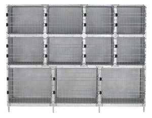 Cage Banks - Shor-Line Stainless Steel 9' Cage Assembly - Model C - Pet Pro Supply Co
