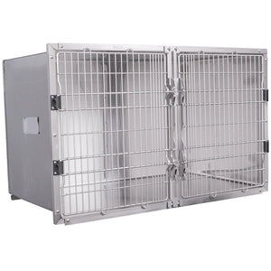 "Cage Banks - Shor-Line Stainless Steel Double Cage, 48""W Series - Pet Pro Supply Co"
