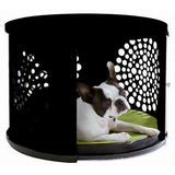 DenHaus BowHaus Modern End Table Dog Crate Furniture at Pet Pro Supply Co. - 1