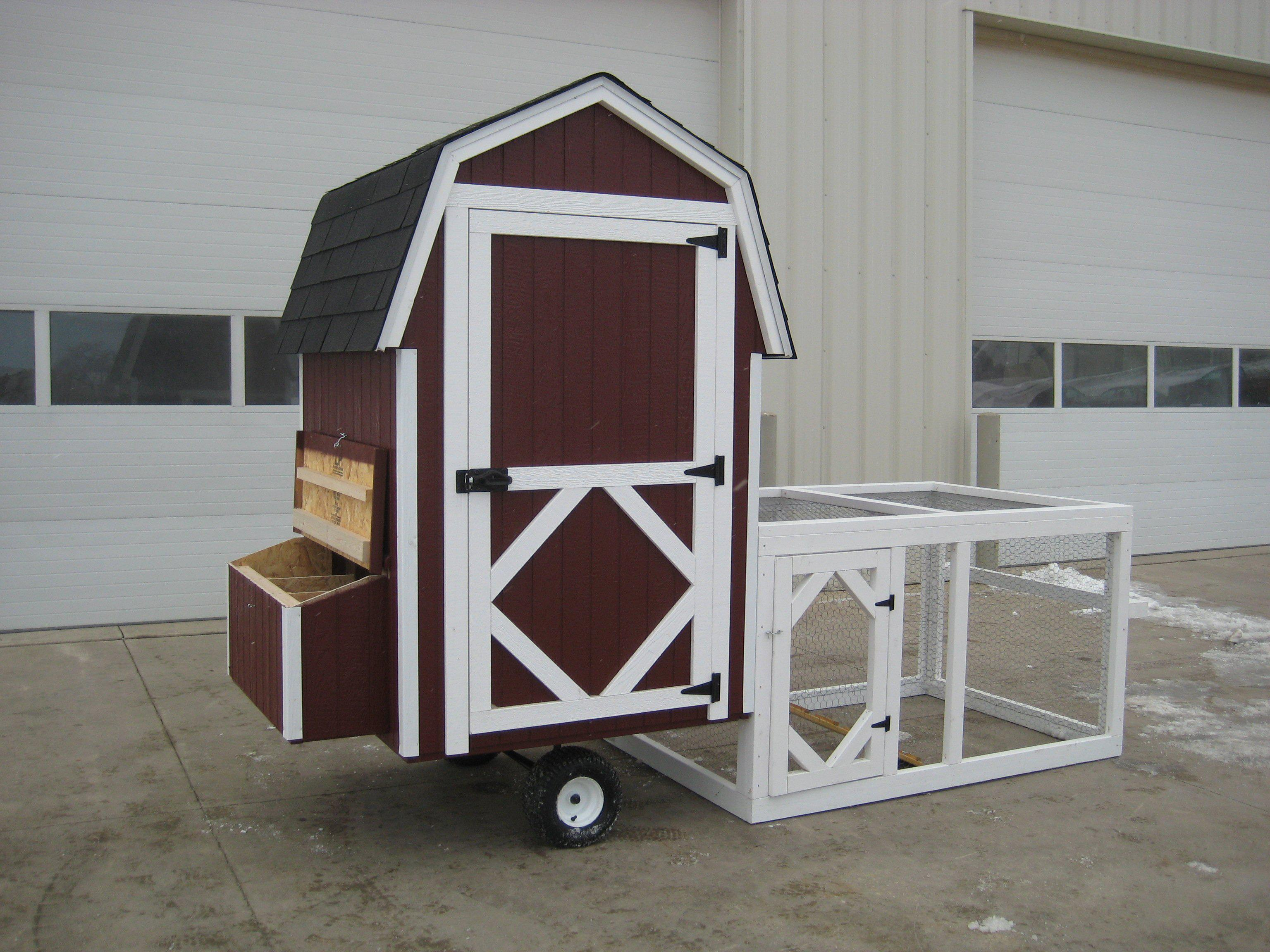 Little Cottage Co. Chicken Coops With Wheels And Chicken Runs