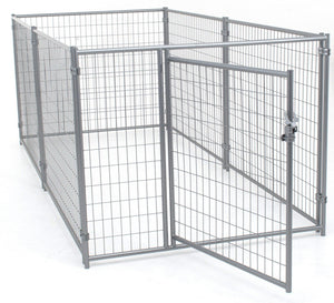 Lucky Dog 5'W x 10'L Modular Welded Wire Kennel - Pet Pro Supply Co. - Pet Pro Supply Co
