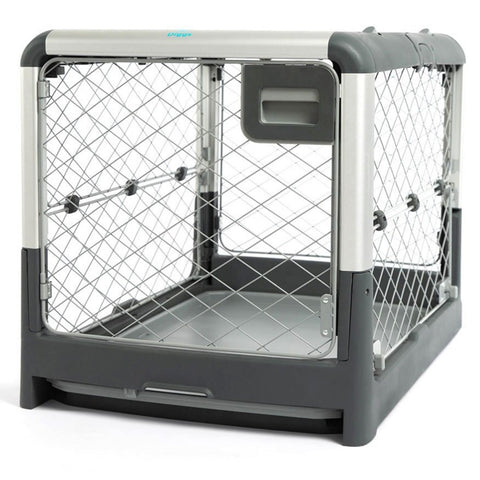Diggs Revol Crate - flat-folding, collapsible, sturdy wire dog crate