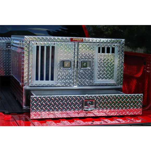 Owens Pro Hunter Aluminum Double Dog Box w/ Storage - Pet Pro Supply Co.