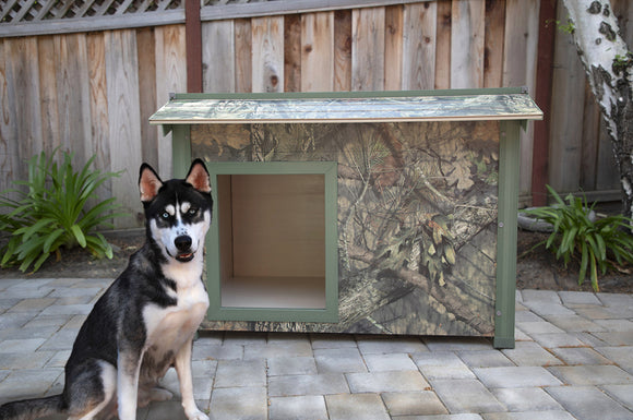 New Age Pet ThermoCore Mossy Oak Insulated Canine Cabin dog house - Pet Pro Supply Co.
