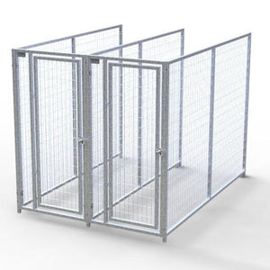 Dog Kennels - TK Products Pro-Series Backless Multi-Run Dog Kennels - Indoor/Outdoor Welded Wire - Pet Pro Supply Co