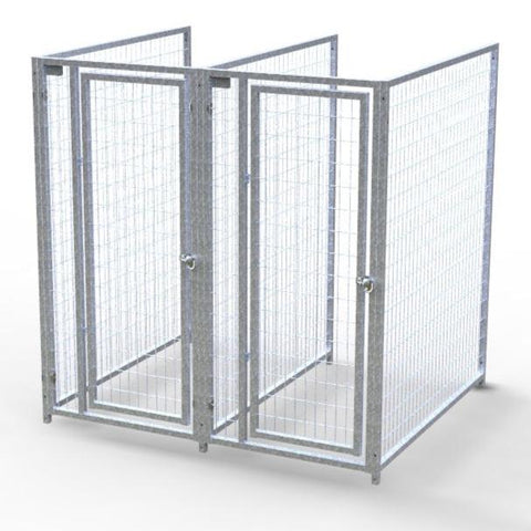 TK Products Pro-Series Backless Multi-Run Dog Kennels 3'x5′ w/ Stainless steel hardware.