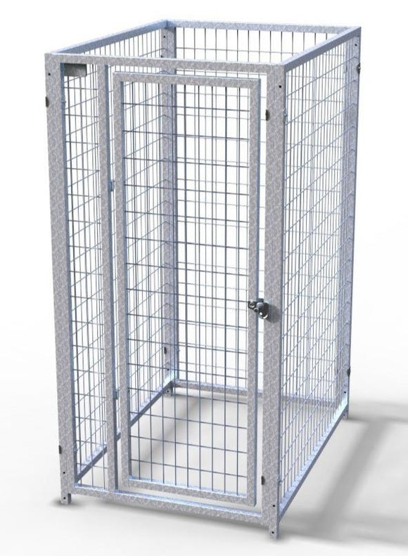 Dog Kennels - TK Products Pro-Series Dog Kennels - Indoor/Outdoor Welded Wire Enclosed Single Kennel