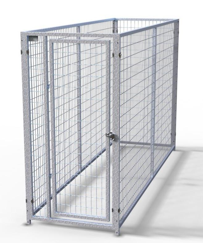 Tk Heavy Duty Enclosed Indoor Outdoor Single Dog Kennel For Sale