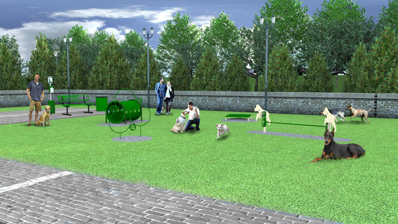Dog Park - BarkPark By Ultrasite Best In Show Dog Park Kit