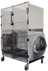 Dryers & Drying Cages - Shor-Line Dryer Cage, Triple Unit - Pet Pro Supply Co
