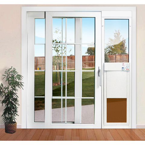 Etonnant High Tech Pet Doors All Seasons Electronic Sliding Glass Cat U0026 Dog Door    Pet Pro