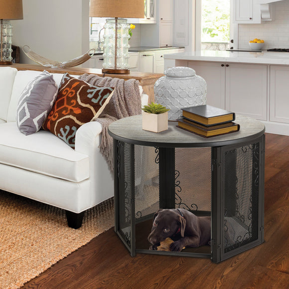 Furniture Crates - Richell Accent Table Pet Crate