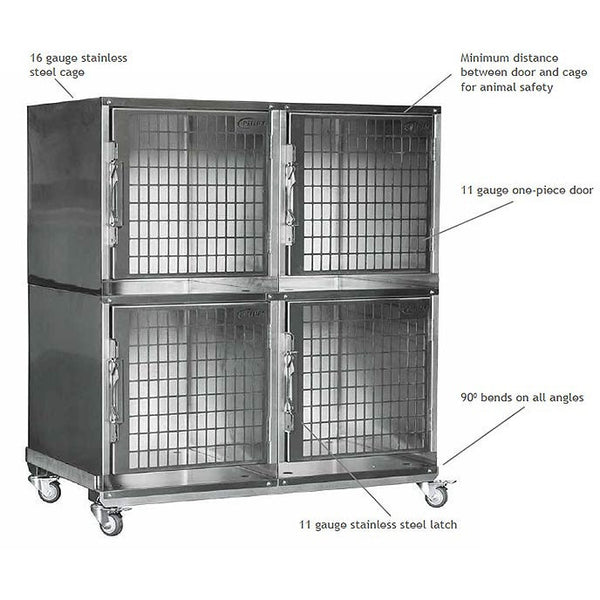 Vetline Veterinary Amp Dog Grooming All Stainless Steel Cage