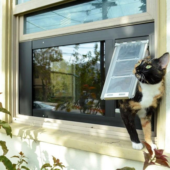 Endura Flap® by Patio Pacific - Thermo Sash 3e - Sash Window Cat & Dog Door - Pet Pro Supply Co.