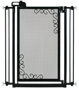 Richell Tall One-Touch Metal Mesh Pet Gate - Pet Pro Supply Co. - Pet Pro Supply Co
