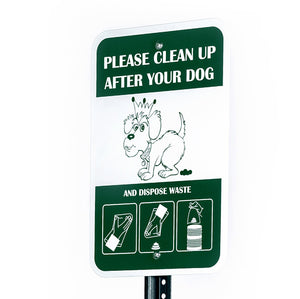 "Pet Waste - Poopy Pouch ""Please Clean Up After Your Dog"" Sign - Pet Pro Supply Co"