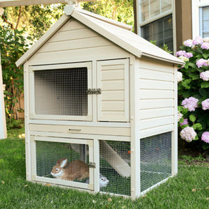 New Age Pet Huntington Townhouse Rabbit Hutch - Pet Pro Supply Co. - Pet Pro Supply Co