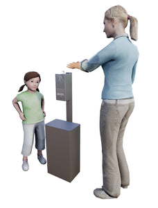 Sanitation Stations - UltraSite Post Mounted Small Hand Sanitizer Station & Receptacle - Pet Pro Supply Co