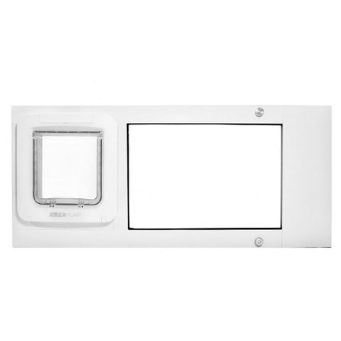 Patio Pacific Thermo Sash 2e Automatic/Electronic Cat & Dog Door for Windows at Pet Pro Supply Co. - 1