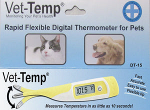 Thermometer - AMC Vet-Temp Rapid Flexible Digital Thermometer For Pets - Pet Pro Supply Co