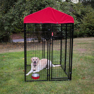 Lucky Dog® Uptown Kennel With Sunbrella Canopy Cover - Pet Pro Supply Co