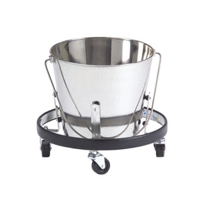 Veterinary Accessories - Shor-Line Collection Pail With Caster Base - Pet Pro Supply Co