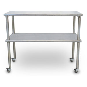 Vet's Best Stainless Steel Veterinary Mobile Utility Table with Shelf - Pet Pro Supply Co. - Pet Pro Supply Co