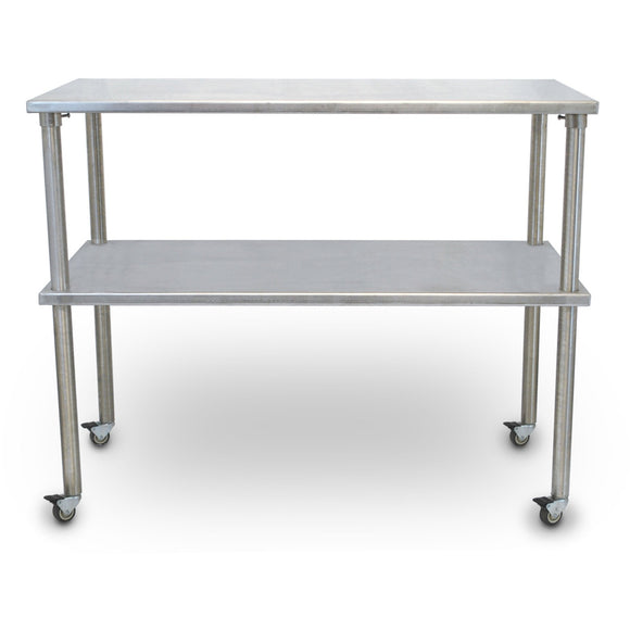 Vet's Best Stainless Steel Veterinary Mobile Utility Table with Shelf - Pet Pro Supply Co.