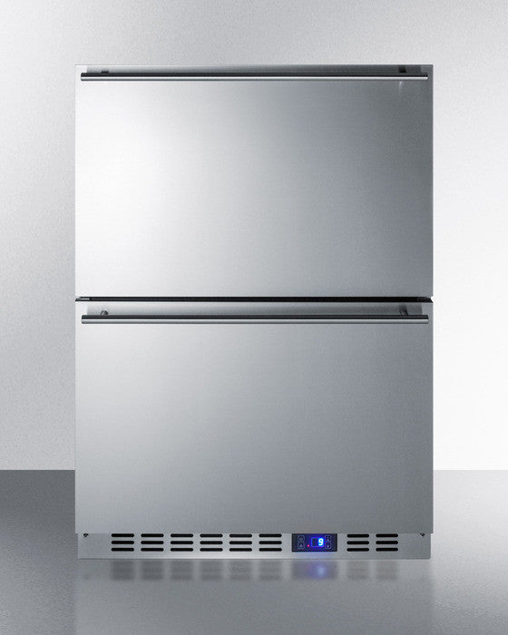 Stainless Steel DOUBLE DRAWER Fridge!