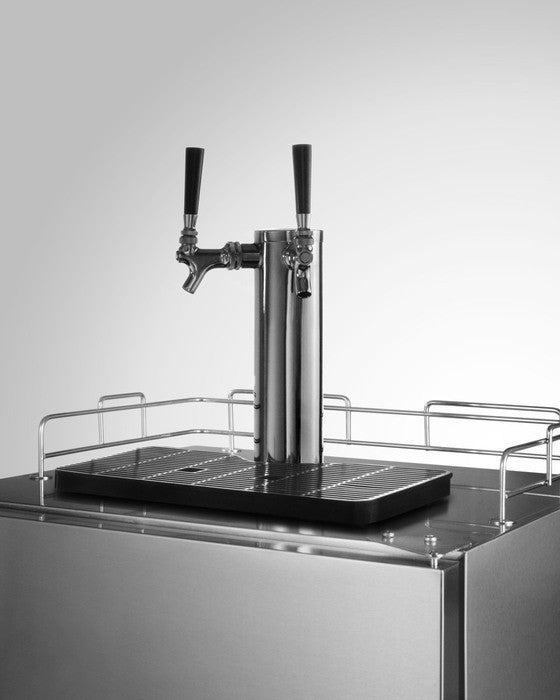 Stainless Steel DOUBLE TAP, Kegerator!