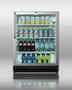 Stainless Steel Fridge w / GLASS DOOR!